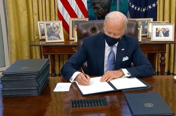 President Biden Signing